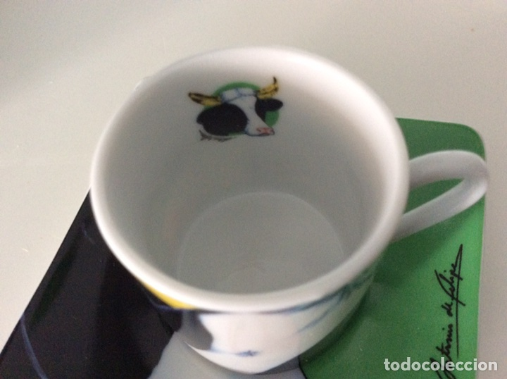 Vintage: Serigrafía Warhol/Vacas sobre juego de café, realizadas por ANTONIO DE FELIPE en su caja original - Foto 8 - 95332575