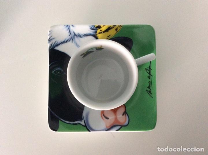 Vintage: Serigrafía Warhol/Vacas sobre juego de café, realizadas por ANTONIO DE FELIPE en su caja original - Foto 9 - 95332575