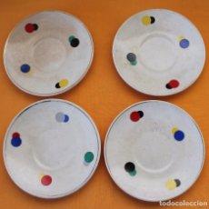 Vintage: 4 PLATOS DE CAFE-IBERO TANAGRA-SANTANDER-AÑOS 50-60. Lote 95379755