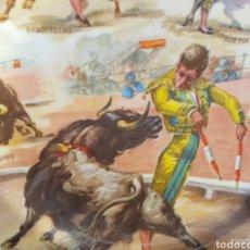 Vintage: BONITO PLATO DE PORCELANA CON MOTIVOS TAURINOS, J. CROS ESTREMS, CUÑO EN LA BASE. Lote 95562387