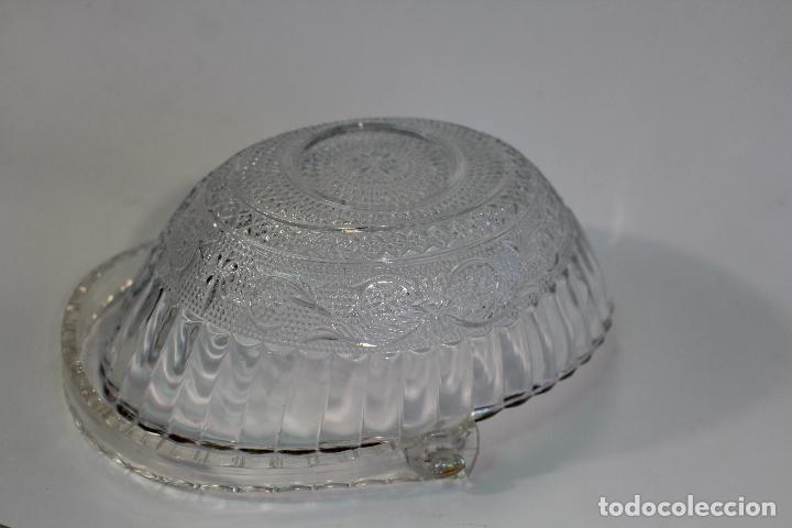 Vintage: centro cesta frutero en cristal tallado - Foto 2 - 95761483