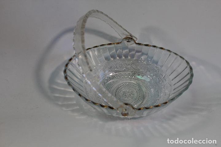 Vintage: centro cesta frutero en cristal tallado - Foto 3 - 95761483