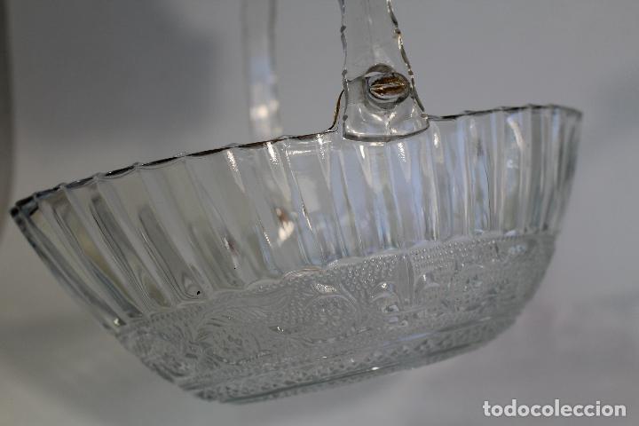 Vintage: centro cesta frutero en cristal tallado - Foto 5 - 95761483