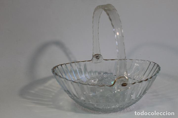 Vintage: centro cesta frutero en cristal tallado - Foto 6 - 95761483