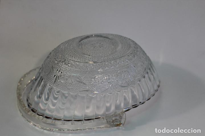 Vintage: centro cesta frutero en cristal tallado - Foto 7 - 95761483