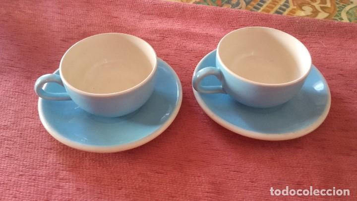 BONITO TU Y YO DE LOZA,COLOR AZUL Y BLANCO SIN MARCA. (Vintage - Decoración - Porcelanas y Cerámicas)