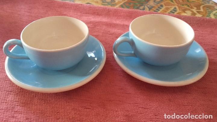 Vintage: Bonito tu y yo de loza,color azul y blanco sin marca. - Foto 2 - 96084423