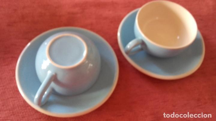 Vintage: Bonito tu y yo de loza,color azul y blanco sin marca. - Foto 3 - 96084423