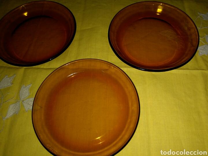 3 PEQUEÑOS PLATOS DURALEX (Vintage - Decoración - Cristal y Vidrio)