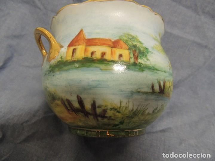 Vintage: vaso de porcelana alemana Kaiser numerado y firmado - Foto 3 - 96237751