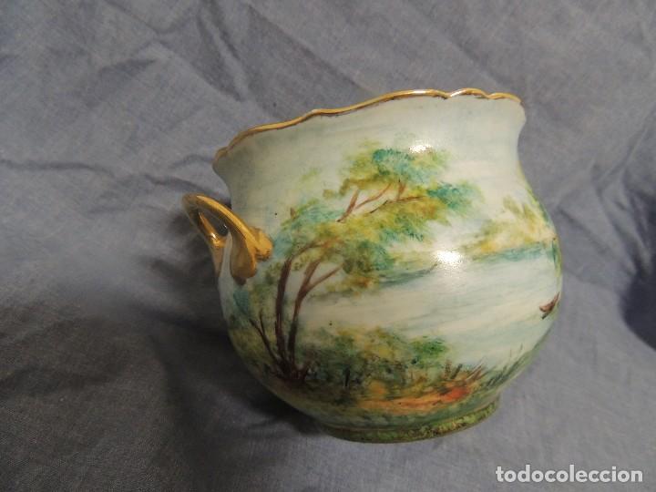 Vintage: vaso de porcelana alemana Kaiser numerado y firmado - Foto 4 - 96237751