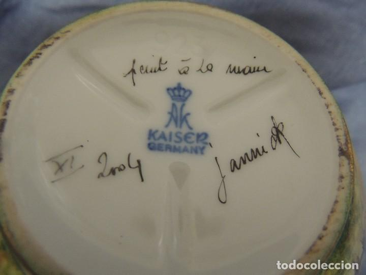 Vintage: vaso de porcelana alemana Kaiser numerado y firmado - Foto 5 - 96237751