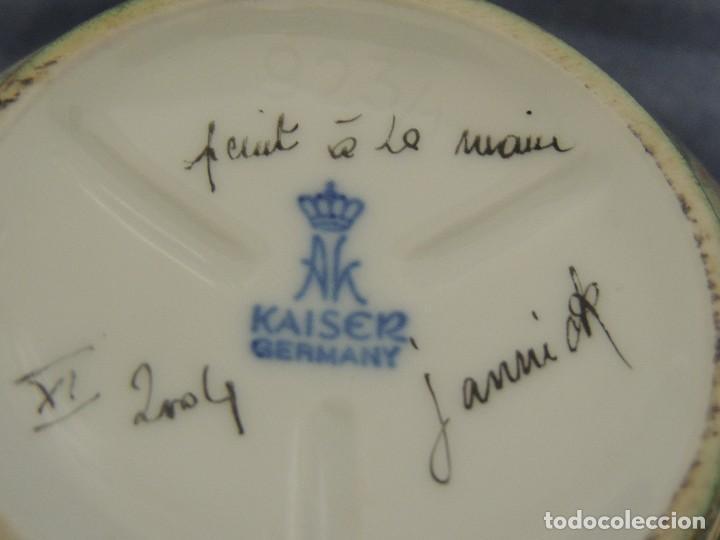 Vintage: vaso de porcelana alemana Kaiser numerado y firmado - Foto 6 - 96237751