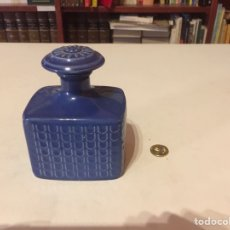 Vintage: BOTE FRASCO CERÁMICA AZUL TIPO PERFUMERO. Lote 96313247