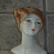 Vintage: BUSTO,FIGURA DE PORCELANA INGLES,AÑOS 70. CHICA ART DECO. Lote 96323695