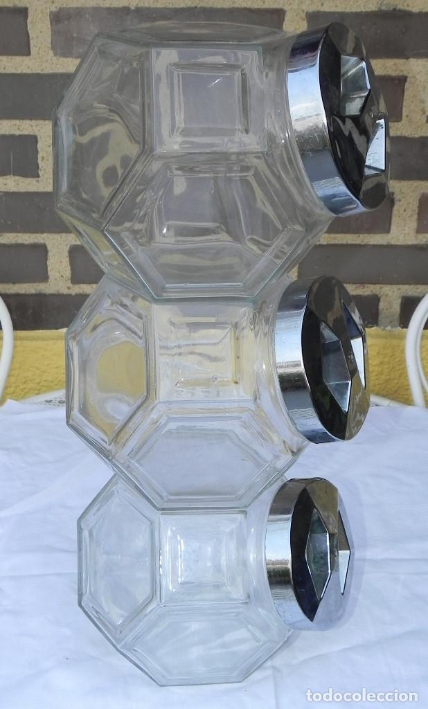 Antigua caramelera bombonera de cristal 3 comprar for Tarros de cristal vintage