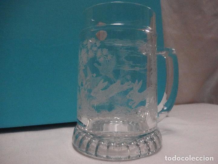 JARRA CRISTAL TALLADO (Vintage - Decoración - Cristal y Vidrio)