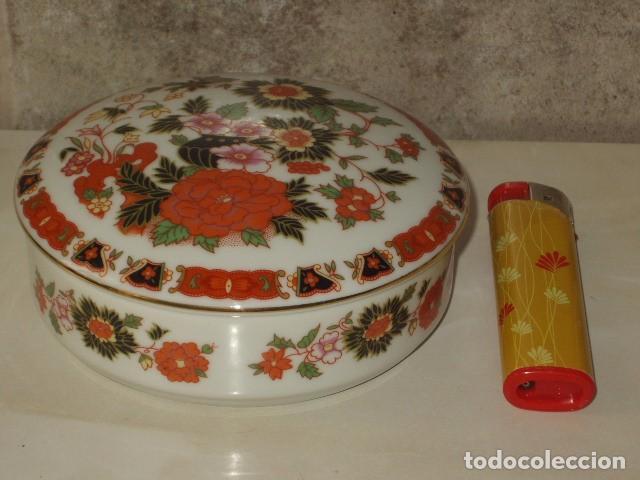 VINTAGE,JOYERO DE PORCELANA CON ESTAMPACION FLORAL.SELLO PORTUGAL Nº3. (Vintage - Decoración - Porcelanas y Cerámicas)