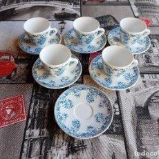 Vintage: JUEGO DE CAFE, 6 PLATITOS Y 5 TAZAS, RIVANEL, FRANCIA, AÑOS 60-70. SIN FALTAS.. Lote 97764227
