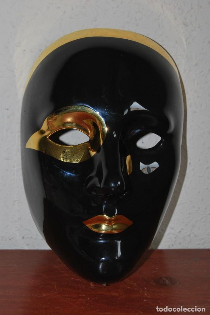 M scara veneciana de porcelana decoraci n en comprar - Mascaras venecianas decoracion ...