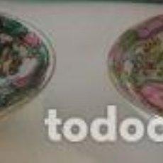 Vintage: DOS PLATOS PINTADOS A MANO, MACAO. Lote 99150751