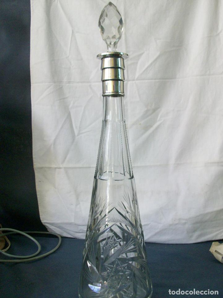 LICORERA - CRISTAL TALLADO (Vintage - Decoración - Cristal y Vidrio)