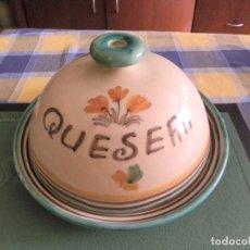 Vintage: QUESERA DE PORCELANA DE TALAVERA-PUENTE DEL ARZOBISPO-FIRMADA POR RDM. Lote 99442019