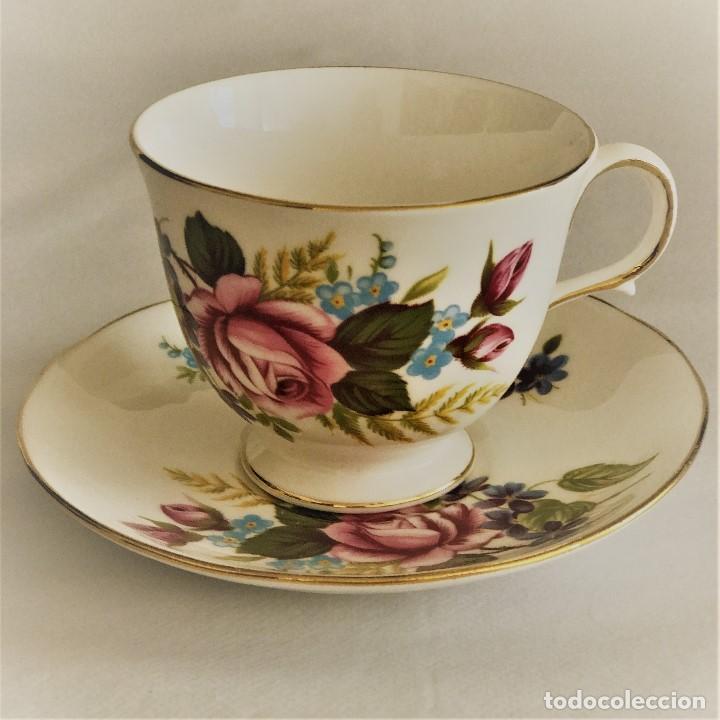 GAINSBOROUGH ROSA ROSA VINTAGE BONE CHINA (Vintage - Decoración - Porcelanas y Cerámicas)