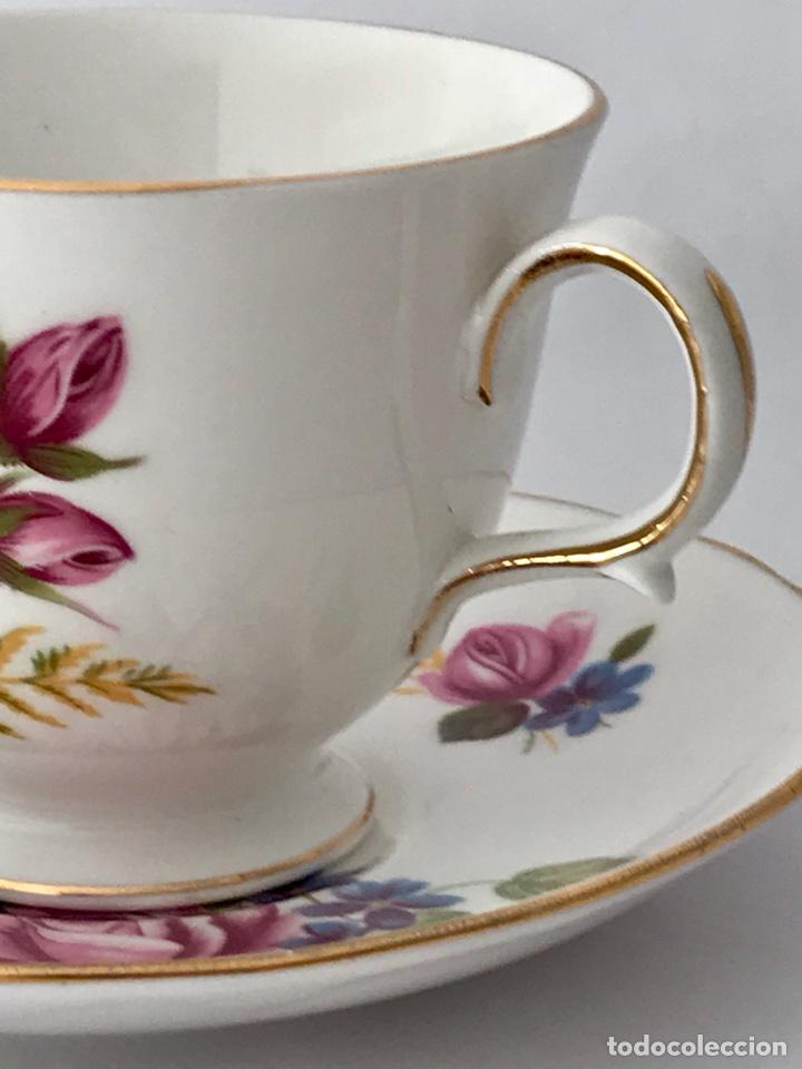 Vintage: Gainsborough Rosa rosa Vintage Bone China - Foto 8 - 99457511