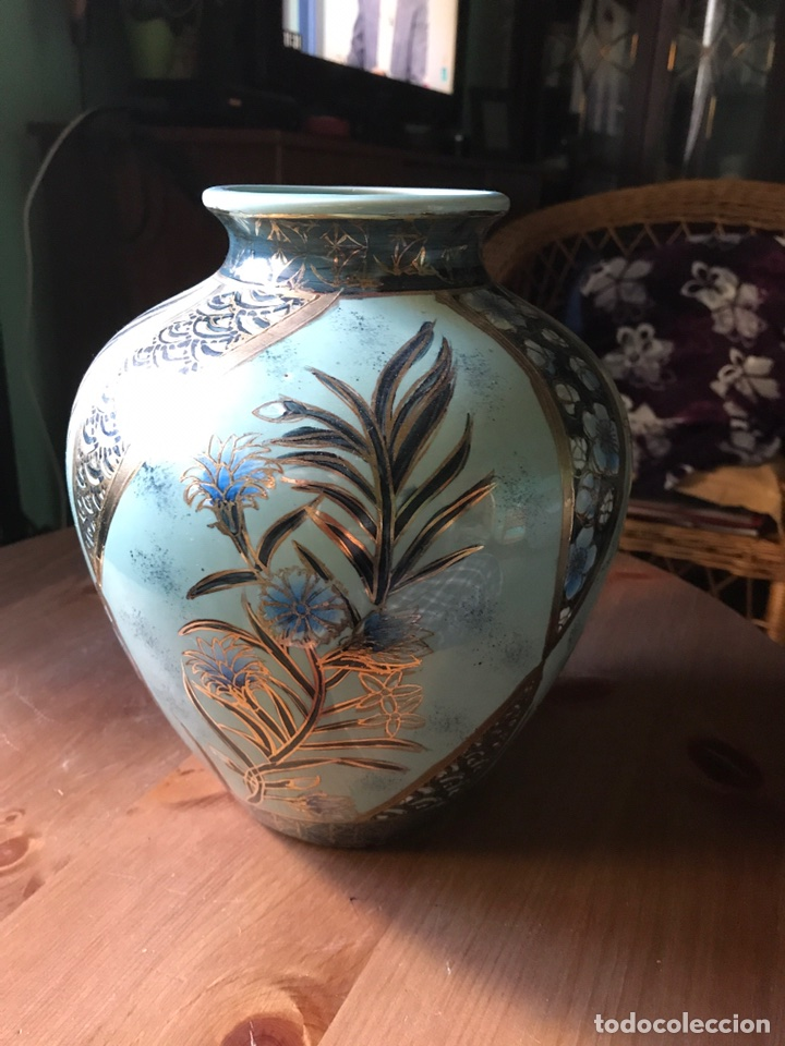 JARRÓN DE PORCELANA CHINA (Vintage - Decoración - Porcelanas y Cerámicas)
