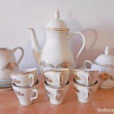 Vintage: JUEGO TÉ CAFÉ INCOMPLETO PORCELANA SANTA CLARA ROSAS AÑOS 60. Lote 55003864