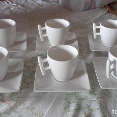 Vintage: PRECIOSO JUEGO DE CAFE DE PORCELANA,MARCADO EN BASE.. Lote 101525711