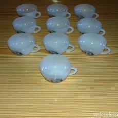 Vintage: 10 TAZAS DE CAFE ARCOPAL MARGARITAS.. Lote 101656711