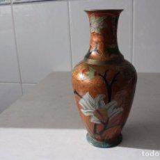 Vintage: ANTIGUO A ESTRENAR JARRÓN DE METAL HECHO EN INDIA. AÑO 80.. Lote 102090887