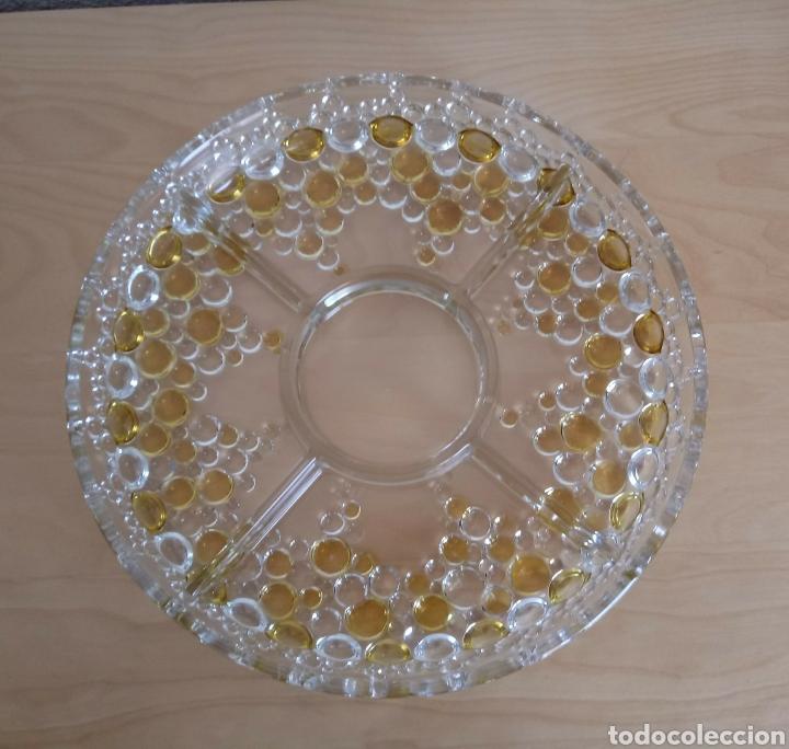 CENTRO DE MESA WHALTHER GLASS MODELO BOLERO. WHALTHER-GLAS (Vintage - Decoración - Cristal y Vidrio)