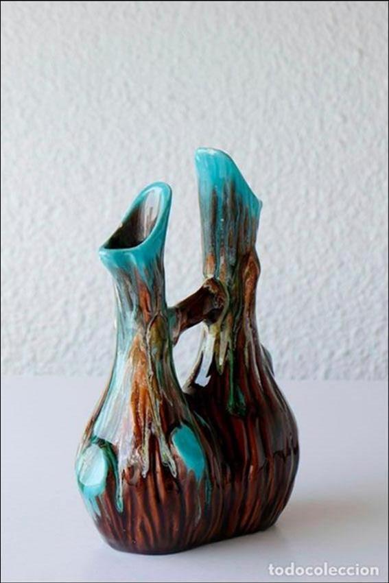 Vintage: Florero jarrón cerámica de Vallauris 1960s - Foto 2 - 102537799