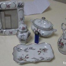 Vintage: LOTE DE 4 PIEZAS DE PORCELANA ELYCA. Lote 102703815