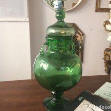 Vintage: TIBOR DE CRISTAL VERDE AÑOS 60. Lote 102800135