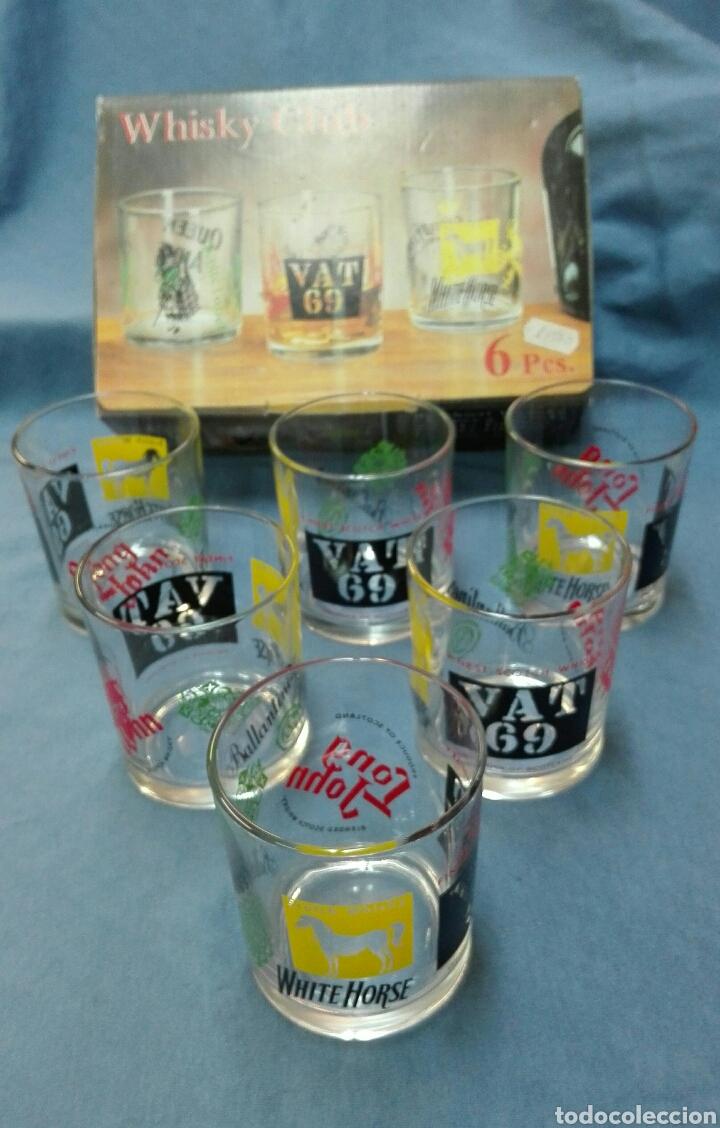 VASOS WHISKY VINTAGE NUEVOS. (Vintage - Decoración - Cristal y Vidrio)
