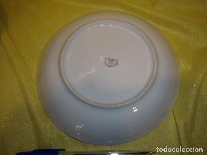 Vintage: Palangana jofaina y jarra, tocador porcelana de Sanbo, filo de plata, años 70, Nuevo sin usar. - Foto 6 - 103135419