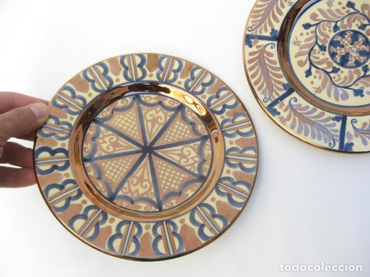PLATOS CERAMICA MANISES (Vintage - Decoración - Porcelanas y Cerámicas)