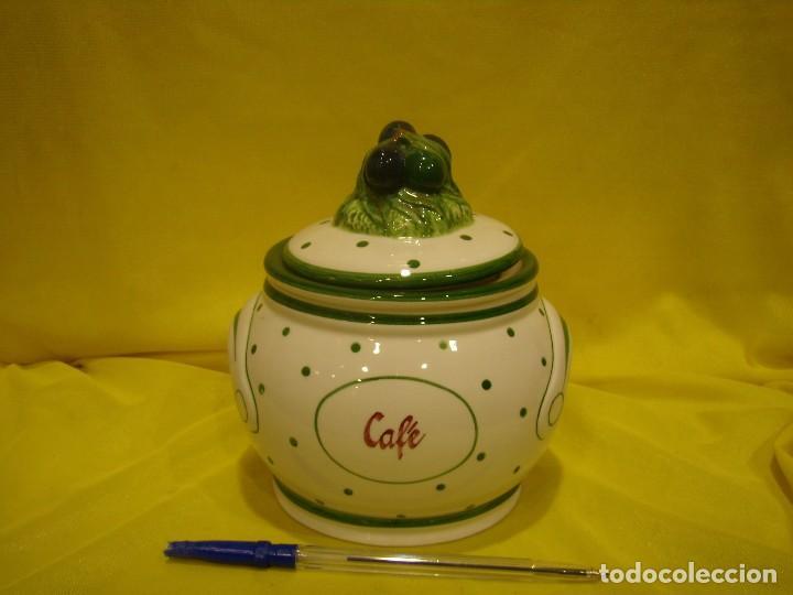 TARRO COCINA CAFÉ PORCELANA, AÑOS 80, NUEVO SIN USAR. (Vintage - Decoración - Porcelanas y Cerámicas)