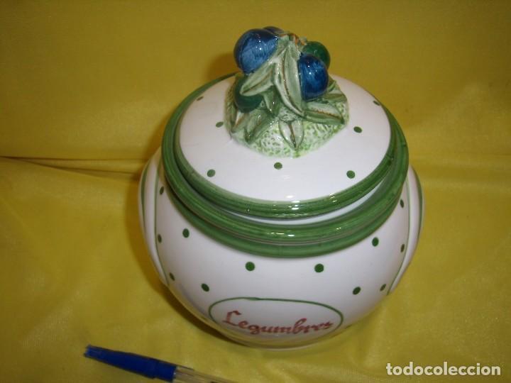 Vintage: Tarro cocina legumbres porcelana, años 80, Nuevo. - Foto 6 - 103194507
