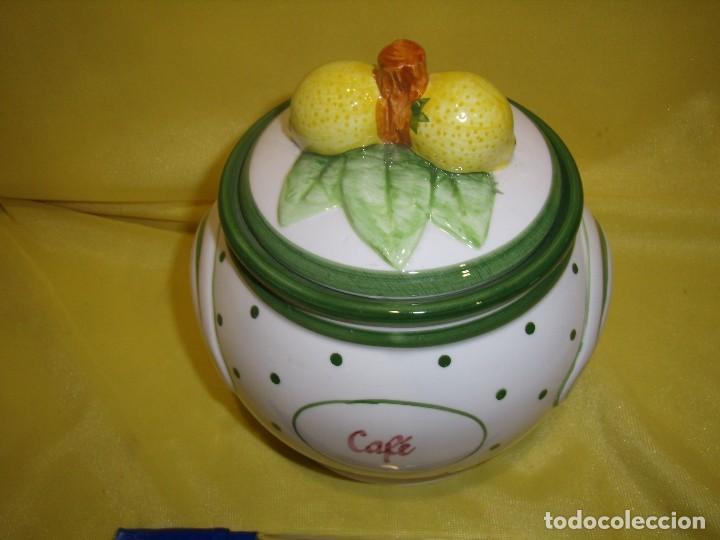 Vintage: Tarro cocina café de porcelana, años 80, Nuevo sin usar. - Foto 5 - 103194799