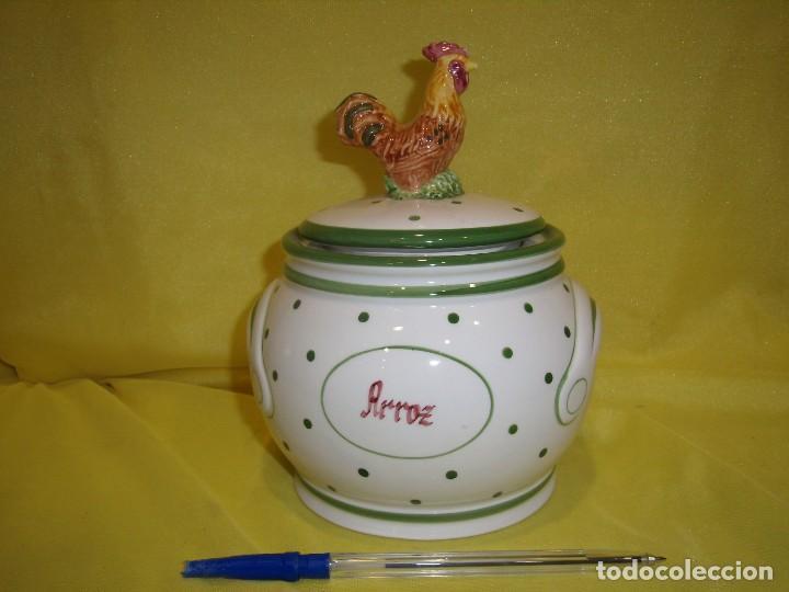 TARRO COCINA ARROZ DE PORCELANA, AÑOS 80, NUEVO SIN USAR. (Vintage - Decoración - Porcelanas y Cerámicas)