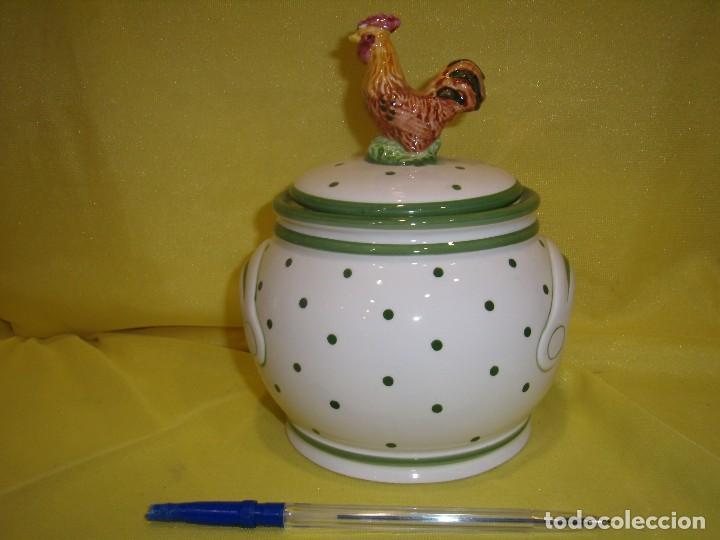 Vintage: Tarro cocina arroz de porcelana, años 80, Nuevo sin usar. - Foto 3 - 103195035