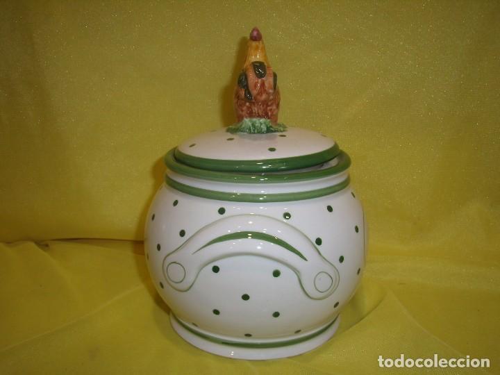 Vintage: Tarro cocina arroz de porcelana, años 80, Nuevo sin usar. - Foto 4 - 103195035