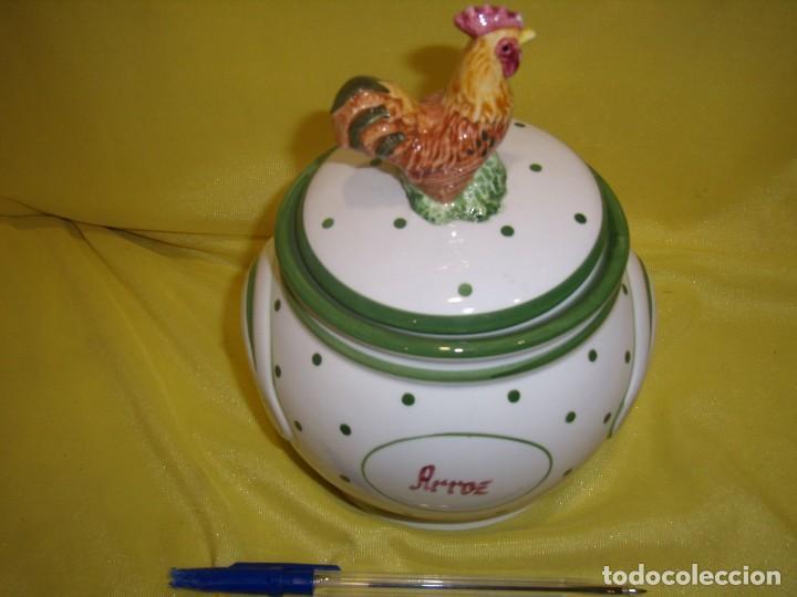 Vintage: Tarro cocina arroz de porcelana, años 80, Nuevo sin usar. - Foto 5 - 103195035