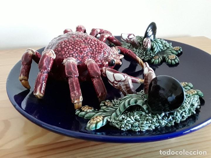 Vintage: Plato de engaño, cerámica, Centollo. Para colgar - Foto 10 - 103683679