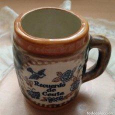 Vintage: PEQUEÑA JARRA DECORATIVA CEUTA - COLECCIONISMO. Lote 103760575